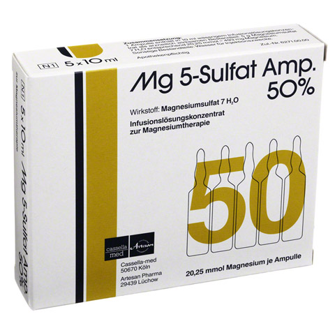 MG 5 Sulfat Amp. 50% Infusionsl�sungskonzentrat 5 St�ck N1