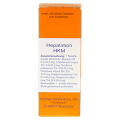 HEPATIMON HKM Tabletten 100 St�ck N1 - Vorderseite