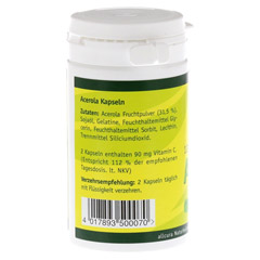 ACEROLA KAPSELN natürl.Vitamin C 120 Stück - Linke Seite