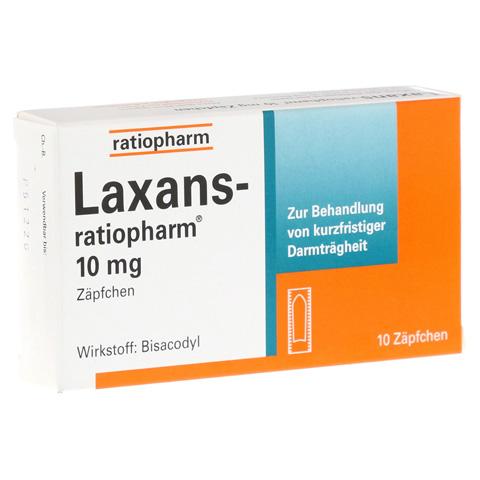 Laxans-ratiopharm 10mg Zäpfchen 10 Stück