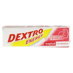 DEXTRO ENERGY Tropical+10 Vitamine Stange 1 St�ck - Vorderseite