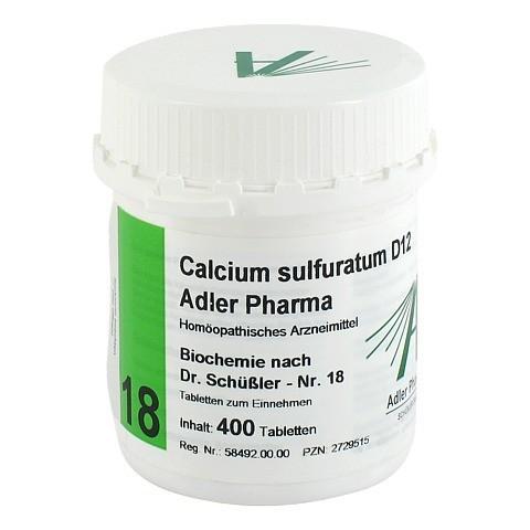 BIOCHEMIE Adler 18 Calcium sulfuratum D 12 Tabl. 400 Stück