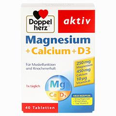 DOPPELHERZ Magnesium+Calcium+D3 Tabletten 40 St�ck - Vorderseite