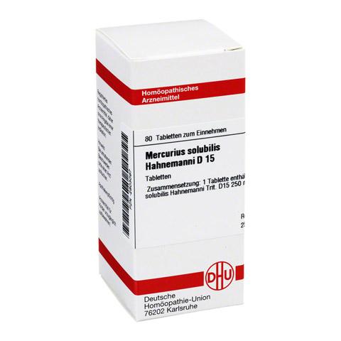 MERCURIUS SOLUBILIS D 15 Tabletten Hahnemanni 80 St�ck N1