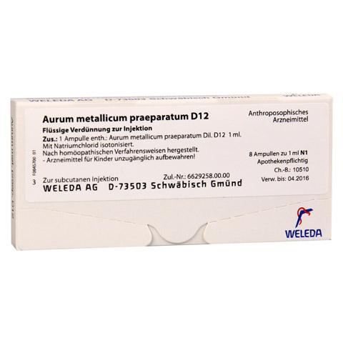 AURUM METALLICUM PRAEPARATUM D 12 Ampullen 8 St�ck N1
