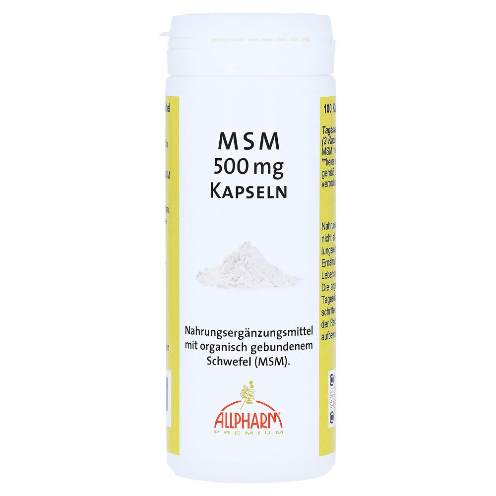 msm kapseln 500 mg 100 st ck online bestellen medpex. Black Bedroom Furniture Sets. Home Design Ideas