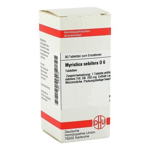 MYRISTICA SEBIFERA D 6 Tabletten 80 Stück N1