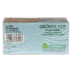 GRÜNER TEE+Ingwer+Ginseng Filterbeutel 20 Stück - Unterseite