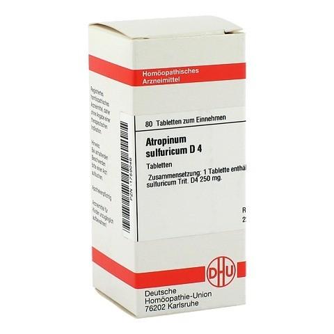 ATROPINUM SULFURICUM D 4 Tabletten 80 Stück N1