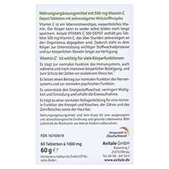 VITAMIN C 500 mg Depot Tabletten 60 Stück - Rückseite