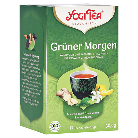 YOGI TEA grüner Morgen Bio Filterbeutel 17x1.8 Gramm