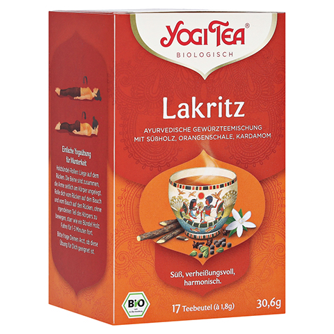 YOGI TEA Lakritz Bio Filterbeutel 17x1.8 Gramm