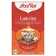 YOGI TEA Lakritz Bio Filterbeutel 17x1.8 Gramm - Vorderseite
