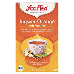 YOGI TEA Ingwer Orange+Vanille Bio Filterbeutel 17x1.8 Gramm - Vorderseite