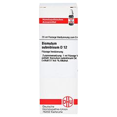 BISMUTUM SUBNITRICUM D 12 Dilution 20 Milliliter N1 - Vorderseite