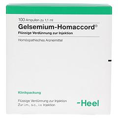 GELSEMIUM HOMACCORD Ampullen 100 Stück N3 - Vorderseite