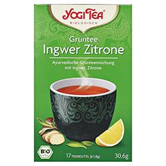 YOGI TEA Grüntee Ingwer Zitrone Bio Filterbeutel 17x1.8 Gramm - Vorderseite