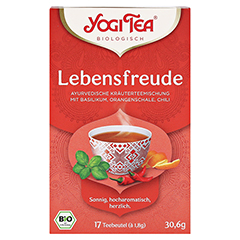 YOGI TEA Lebensfreude Bio Filterbeutel 17x1.8 Gramm - Vorderseite