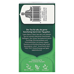 YOGI TEA Grüne Energie Bio Filterbeutel 17x1.8 Gramm - Rechte Seite