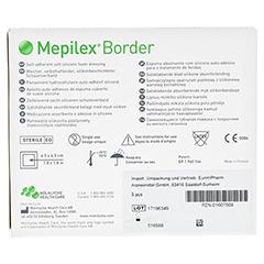 MEPILEX Border Schaumverband 7,5x7,5 cm 5 Stück - Rückseite