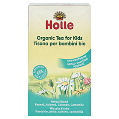 HOLLE Bio Kinder Tee 30 Gramm - Rückseite