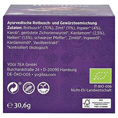 YOGI TEA Rotbusch Bio Filterbeutel 17x1.8 Gramm - Unterseite
