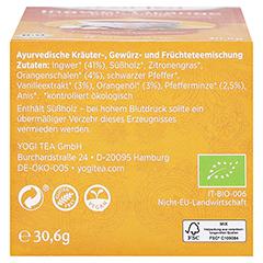 YOGI TEA Ingwer Orange+Vanille Bio Filterbeutel 17x1.8 Gramm - Unterseite