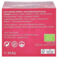 YOGI TEA Frauen Power Bio Filterbeutel 17x1.8 Gramm - Unterseite