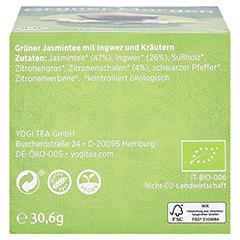 YOGI TEA grüner Morgen Bio Filterbeutel 17x1.8 Gramm - Unterseite