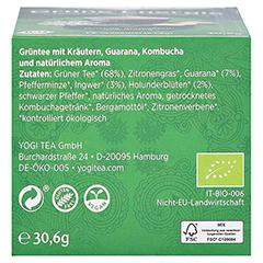YOGI TEA Grüne Energie Bio Filterbeutel 17x1.8 Gramm - Unterseite