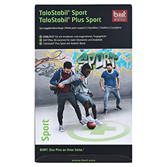 BORT TaloStabil Sport Bandage XL schwarz/grün 1 Stück - Vorderseite