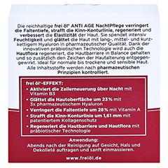 frei öl ANTI AGE HYALURON LIFT NachtPflege 50 Milliliter - Rückseite