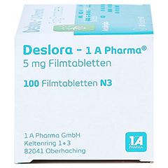 Deslora-1A Pharma 5mg 100 Stück N3 - Linke Seite