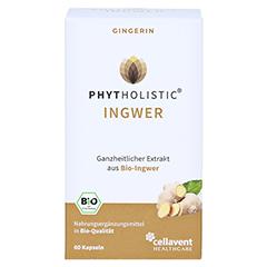 GINGERIN Phytholistic Bio-Ingwer-Extrakt Kapseln 60 Stück - Vorderseite
