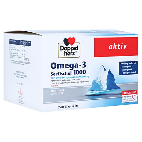 DOPPELHERZ Omega-3 Seefischöl 1000 Kapseln 240 Stück