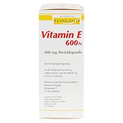VITAMIN E 600 N Weichkapseln 100 Stück - Rechte Seite