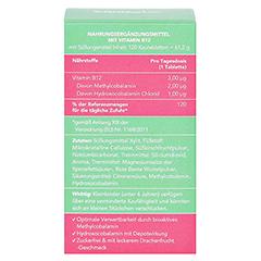 VITAMIN B12 KINDER Kautabletten vegan 120 Stück - Rückseite