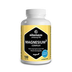 MAGNESIUM 350 mg Komplex Citrat/Oxid/Carbon.vegan 180 Stück