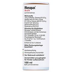MONAPAX Saft 150 Milliliter - Rechte Seite
