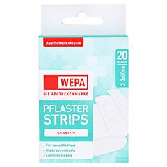 WEPA Pflasterstrips sensitiv 3 Größen 20 Stück - Vorderseite