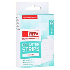 WEPA Pflasterstrips sensitiv 3 Größen 20 Stück
