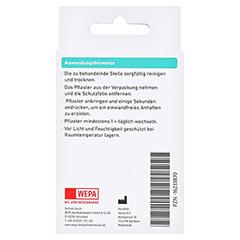 WEPA Pflasterstrips sensitiv 3 Größen 20 Stück - Rückseite