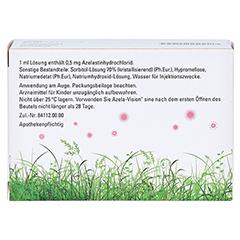 AZELA-Vision sine 0,5 mg/ml Augentr.i.Einzeldosis. 20x0.3 Milliliter N2 - Rückseite
