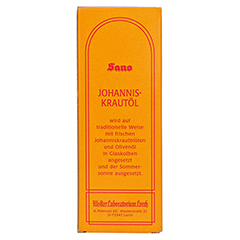 SANO Johanniskrautöl 250 Milliliter - Rückseite