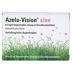 AZELA-Vision sine 0,5 mg/ml Augentr.i.Einzeldosis. 20x0.3 Milliliter N2 - Vorderseite