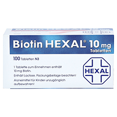BIOTIN HEXAL 10 mg Tabletten 100 Stück N3 - Oberseite