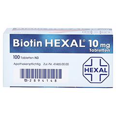 BIOTIN HEXAL 10 mg Tabletten 100 Stück N3 - Unterseite