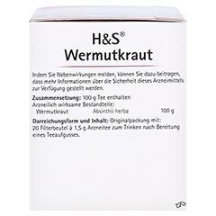 H&S Wermutkraut 20x1.5 Gramm - Linke Seite