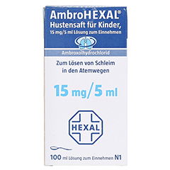 AmbroHEXAL Hustensaft für Kinder 15mg/5ml 100 Milliliter N1 - Vorderseite