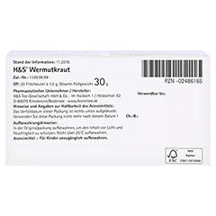 H&S Wermutkraut 20x1.5 Gramm - Unterseite